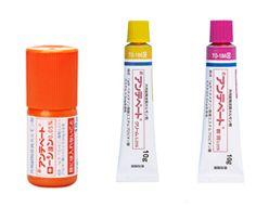 ステロイド外用剤にはローション、クリーム、軟膏がある